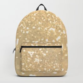 Abstract white gold glamorous girly glitter pattern Backpack