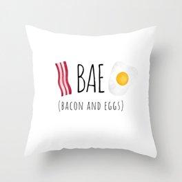 Bae - Bacon and Eggs Throw Pillow