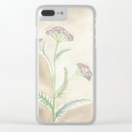 Pink Yarrow Clear iPhone Case