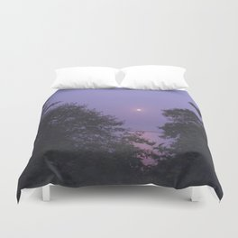 Purple Sky, Pink Sun Duvet Cover