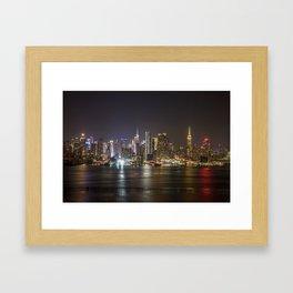 City of Bright Lights New York, New York Framed Art Print