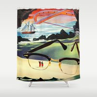 eugenia loli Shower Curtains featuring Elysian Fields by Eugenia Loli