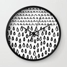 Raindrops and Rainbows Wall Clock
