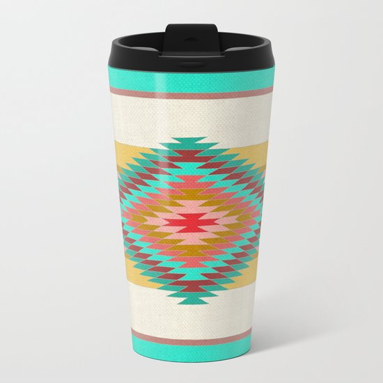 FIESTA (teal) Metal Travel Mug