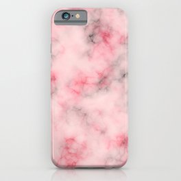 Pink and gray marble iPhone Case