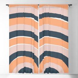 Rainbow stripes minimal art Blackout Curtain