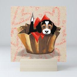 The Love Puppy — Chocolate Candy Mini Art Print