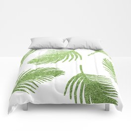 Glitter Palm Leaves Comforters