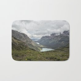 Three Lakes Viewed from Grinnell Glacier Bath Mat