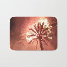 Palm on Fire Bath Mat