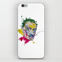 salvador dali iPhone & iPod Skins featuring Salvador Dali by Liam Reading