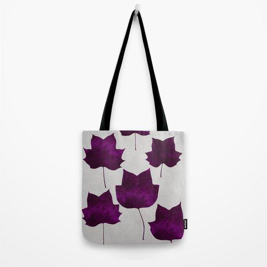 Mapleleaf Purple Tote Bag