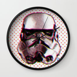 CMYK Stormtrooper by Javi Codina Wall Clock