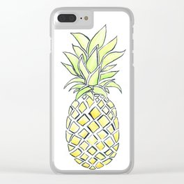 Pineapple Pop Clear iPhone Case