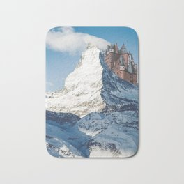 Castle on the Hill Matterhorn and Burg Eltz Castle in Germany Bath Mat