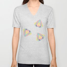 Colorful Diamonds Pattern - gemstones pattern Unisex V-Neck