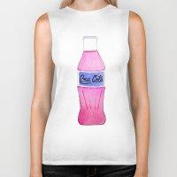 coke Biker Tanks featuring Pink Coke by Shellsea Art