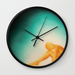 Golden woman  Wall Clock
