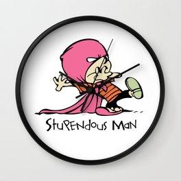 Calvin and Hobbes Stupendous Man Wall Clock