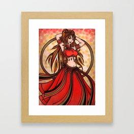 Sun Goddess Belly Dancer Framed Art Print