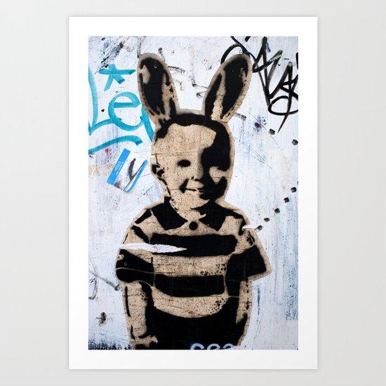 Happy kid Art Print