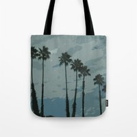 palms Tote Bags featuring Palms by Amanda Bates