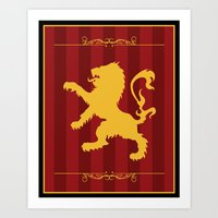 gryffindor Art Prints featuring Gryffindor by Winter Graphics