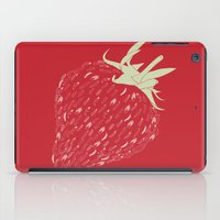 strawberry iPad Cases featuring Strawberry by Julia Kisselmann