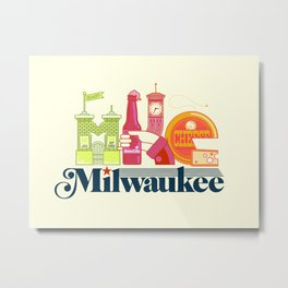MKE ~ Milwaukee, WI Metal Print
