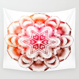 Tie-Dye Rose Ornament Wall Tapestry