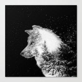 Winter Wolf Leinwanddruck