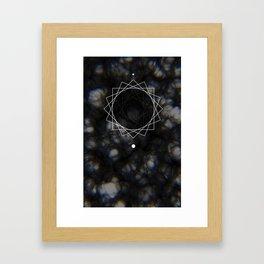Sun Delay Geometry Framed Art Print