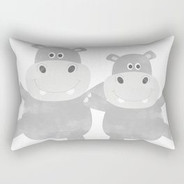 Best Hippo Couple - You are the best thing thats ever been mine - Happy Valentines Day Rectangular Pillow