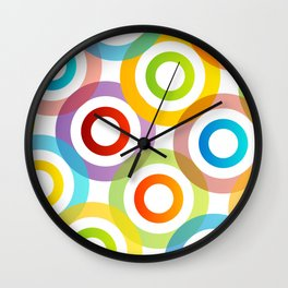 Colorful circles in vibrant colors Wall Clock