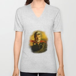 George Lucas - replaceface Unisex V-Neck