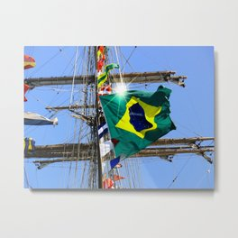 Brazilian flag Metal Print