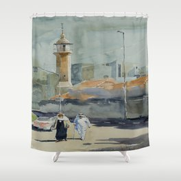 Derech Shchem Shower Curtain