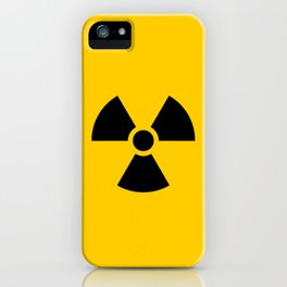Radioactive signal, danger signal for warning iPhone Case