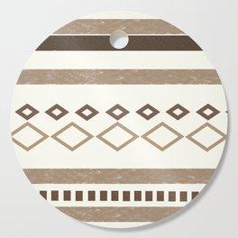 Western Pattern, Out West, Patterns, Brown, Tan, Beige, Shapes, Geometric Western Art Cutting Board