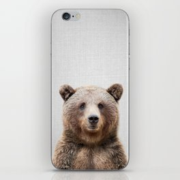 Grizzly Bear - Colorful iPhone Skin