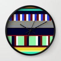 random Wall Clocks featuring Random by Miss L in Art