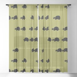 Angry Animals: Tortoise Sheer Curtain