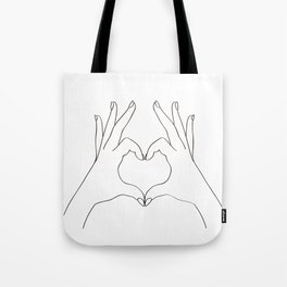Love Heart Tote Bag