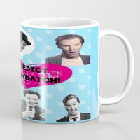 benedict Mugs featuring Benedict DorkyBatch by Paris Noonan