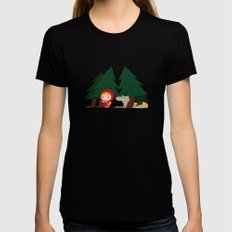 Little Red Riding Hood Womens Fitted Tee Black MEDIUM