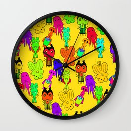 Yellow Clown Wall Clock
