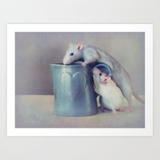 Jimmy and Snoozy Art Print