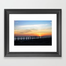 Quiet sunset Framed Art Print
