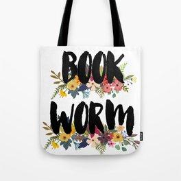 Floral Bookworm Tote Bag
