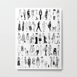 50 Shades of Fashion  Metal Print